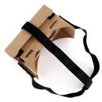 Google Cardboard + Tali Head Strap Lengkap 3D VR