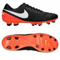 Diskon Sepatu Bola Original Nike Tiempo Genio II Leather FG Black Ora