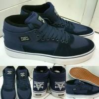 Sepatu Kets Skate Vans Half Cab THRASHER Skate and Destroy Blue Navy
