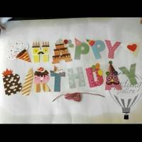 Banner Huruf Happy Birthday / Bunting Flag Ulang Tahun -Lengkap Murah