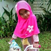 Jilbab anak SD Shaliha (Flower type)