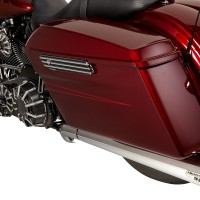 Arlen Ness 10-Gauge Saddlebag Latch Cover - Black HD Touring 2014up