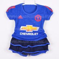 SPECIAL Baju Setelan Bola Baby Jersey Anak Bayi Cewek Manchester Unite