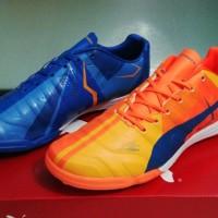 Sepatu Futsal Puma Evopower Tricks Orange Blue - TF