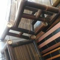 1 set kursi bambu