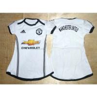 Dress Baju Bola Bayi Jersey Anak Perempuan - MU Putih