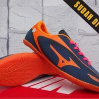 Sepatu Futsal Kids Mizuno Samurai Speed Hitam Orange Anak