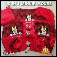 Sarung Jok Mobil / Bantal Mobil 18 in 1 / 18In1 Mickey Minnie Mouse HT