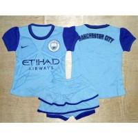 Setelan Celana Baju Bola Anak Bayi Perempuan - Manchester City