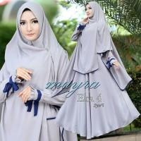Baju Dress Wanita Muslim Gamis Elzatta New Maxi Syar'i Grey