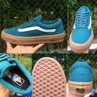 Sepatu Vans Old School Biru Muda Pria Premium Quality