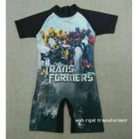 Baju renang Anak - Transformer hitam