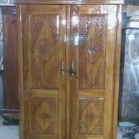 lemari pakaian 2 pintu kayu jati