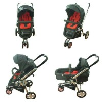 stroller BabyElle S-900 Ventura Black + Red