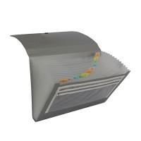 Bantex Expanding File With Zipper Pocket Folio Silver #3602 17