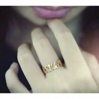Cincin Nama Lapis Emas Asli 24k Bisa Custom Nama
