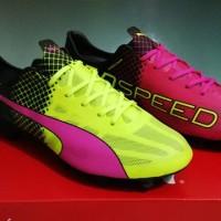 Sepatu bola - Puma Evospeed Tricks Pink Stabilo