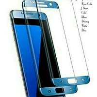 Tempered Glass Full Layar Samsung Galaxy S7 EDGE Warna Biru Antigores