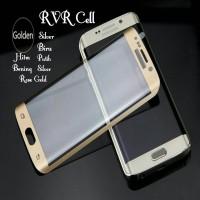 Tempered Glass Full Layar Samsung Galaxy S7 EDGE Warna Antigores Cover