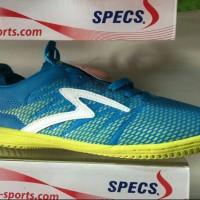sepatu futsal specs apache in (arctic blue/solar slime/white)