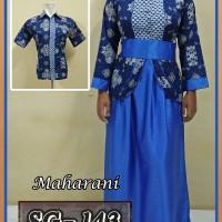 Baju Couple Batik Sarimbit Gamis Batik Pasangan Seragam Batik 01
