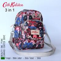 GET1393 Tas Ransel Wanita Cath Kidston 3 in 1 Owl