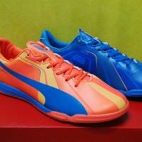 Sepatu Futsal - Puma Evospeed SL Tricks Blue Orange - IC Made in China