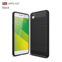 OPPO A37 A37f Carbon Brushed Armor Soft Cover Casing Case Sarung Motif