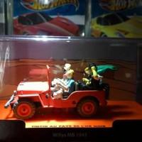 Diecast Tintin JeepWillys +Sertifikat Ori+Box Arkilik Kondisi Not Mint
