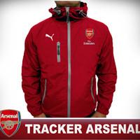 Jaket parasut tracker windbreaker Arsenal