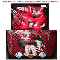 Sarung Jok Universal Mobil 18 in 1 Motif Mickey Mouse