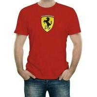 Tshirt kaos BIG SIZE XXXL-XXXXL FERRARI LOGO RED