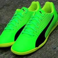 Sepatu Futsal Puma Adreno III IT Green Black