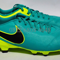 Sepatu Bola Nike Tiempo Genio II Leather FG (Clear Jade/Black/Volt)