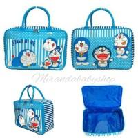 Tas travel Doraemon cute koper mudik jalan renang kanvas tebal murah