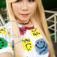 RS70 light pale blonde | Wig long straight / lurus panjang / cosplay