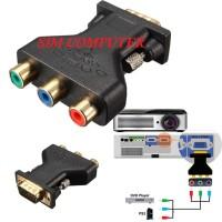 RCA to VGA 3RCA to 15Pin VGA Converter
