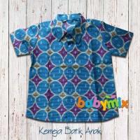 Babymix - Guide Kemeja Baju Batik Anak - Biru Muda