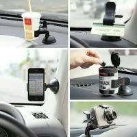 car holder universal di mobil / hp/gopro/actioncam/kartu/botol/clip go