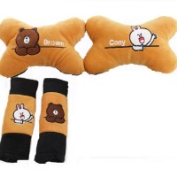 Bantal Mobil Brown and Cony 2in1 - Brown & Cony