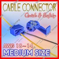 Quick Wiring Terminal Konektor Clamp AWG 18-14 Sambung Kabel Biru
