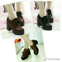 sepatu high heels boots docmart sepatu fashion wanita vintage country