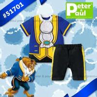 Baju Anak Laki-Laki Setelan Prince Pangeran Beast (Atasan dan Celana)