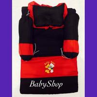 PROMO Kasur Set Bayi Bordir Warna Merah dilengkapi 1 pcs Bantal Peang