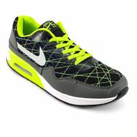 Sepatu Running Sport Nike Air Max 90 Men A+ Hitam Hijau For Men