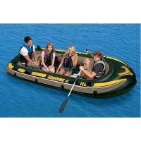 Intex Seahawk 4 Set. Perahu Karet Pancing Dayung Aluminum Oars+Pompa