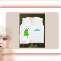 Baju Bayi-New Born-Katun Premium-Kutung Bis Putih-Anna Baby