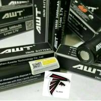 Baterai AWT 18650 Hitam 3400 mAh Vape / Vapor / Rokok Elektrik