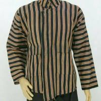 Baju Surjan Jumbo / Sorjan Setelan Dewasa / Lurik / Batik adat Jawa