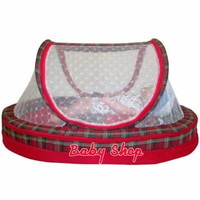 Kasur Bayi Oval Klambu Twil Warna Merah